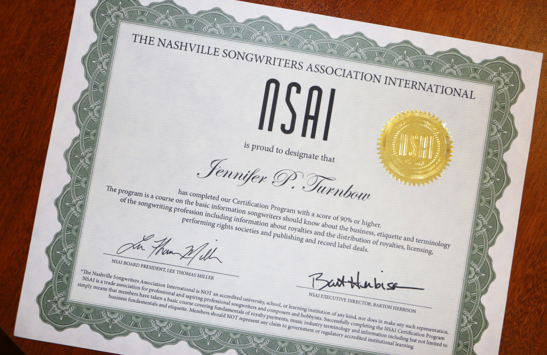 certification program nsai certificate international songwriters courses completion nashville nashvillesongwriters